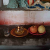 Altar-offering in a temple in Dongqi Village.