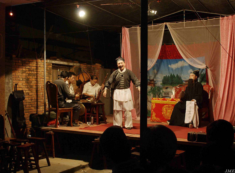 Yun Long Village: A modest production staged in a narrow side-street.