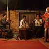 Yun Long Village: A three man orchestra performs for a side-street performance.