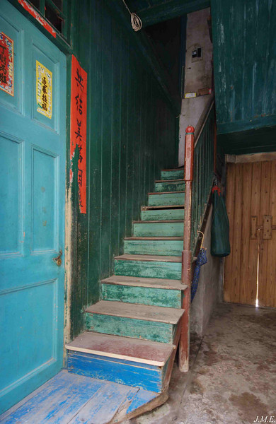 Staircase in Langqi Town.