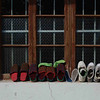Dongqi Village: Shoes on a window sill.