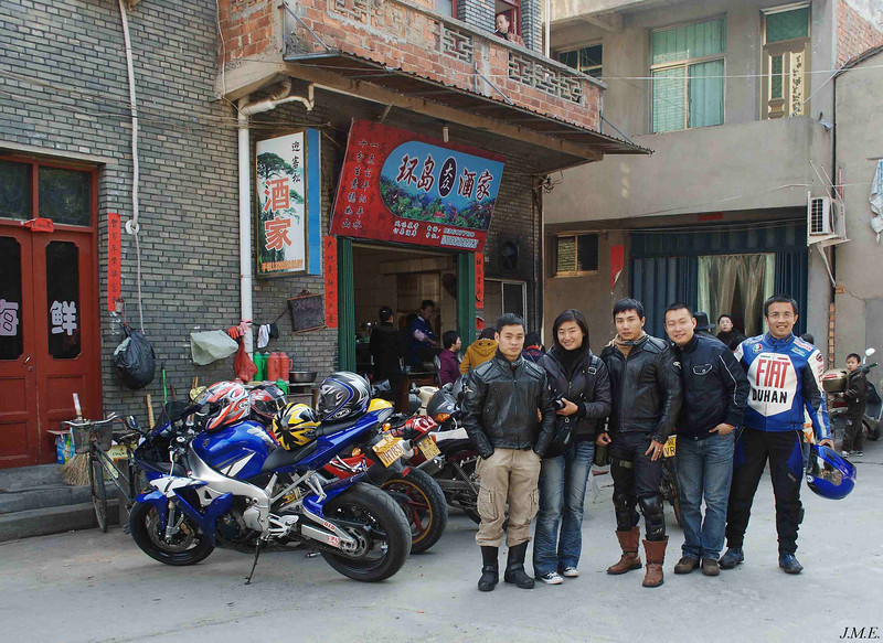 Members of a motorcycle touring club.