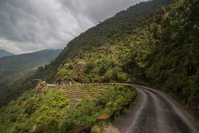 Road to Dhunche. Astonishing until rain