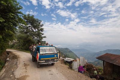 Merry traffic and Nepali roads