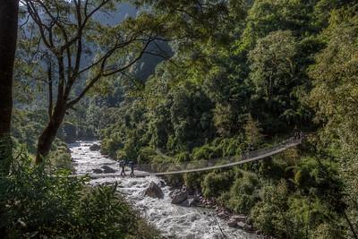 Bridge over Langtang Khola (river)