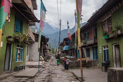 Street life of Old Syabru Besi