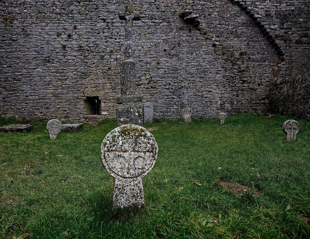 Ancient Cemetery.  La Couvertoirade Castle