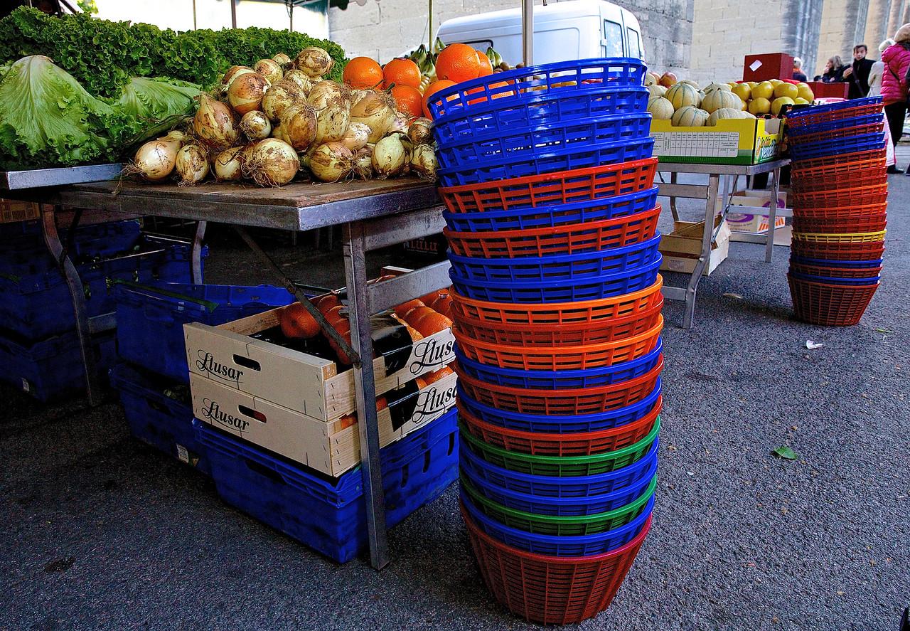 Baskets. Farmers Market, Les Arceaux, Montpellier