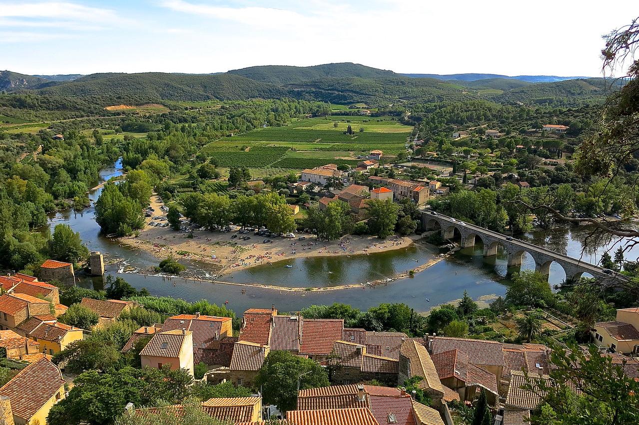 Roquebrun Vista. River Orb Below.