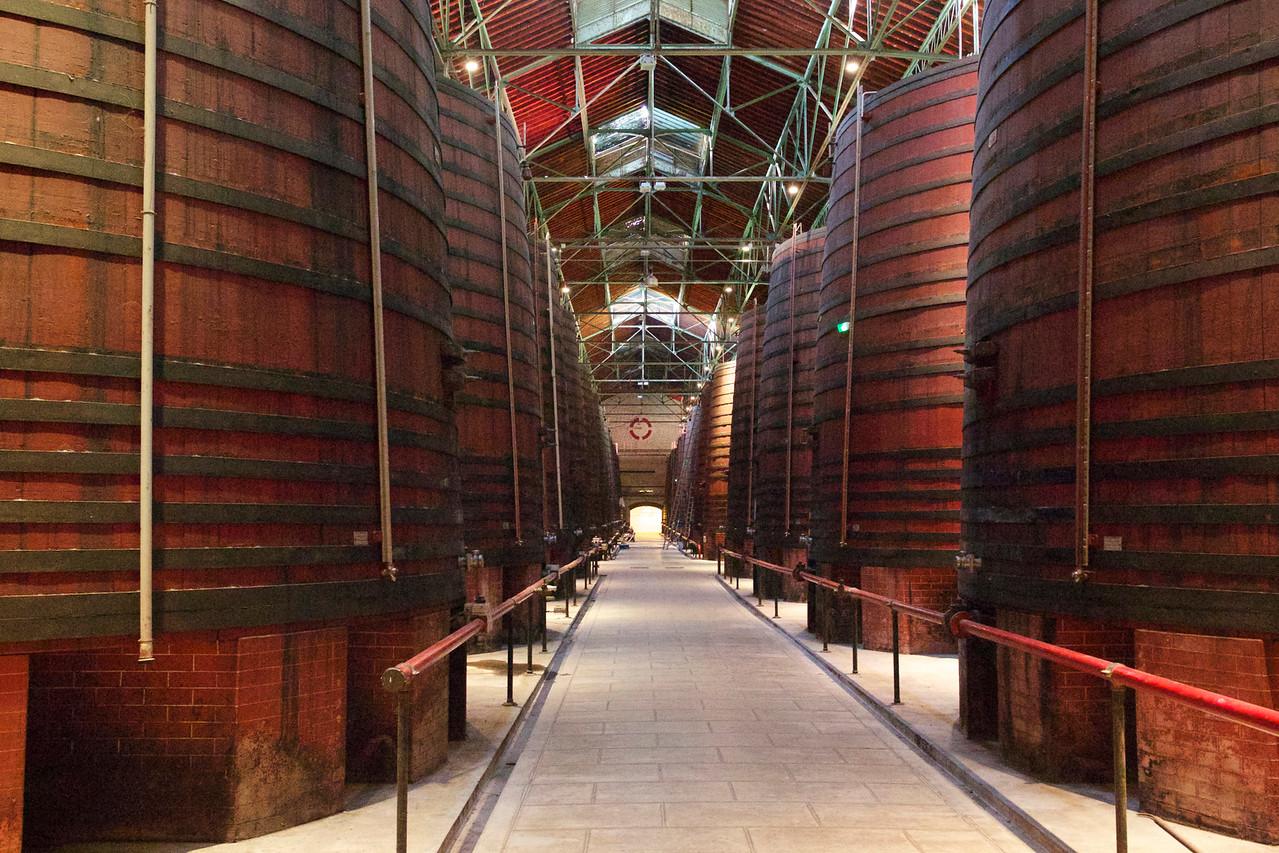 Byrrh Wine Barrels.  Thuir.
