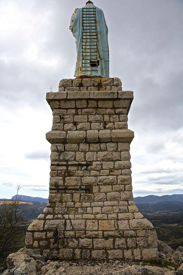 Mary With Ladder. Sanctuaire de Notre Dame du Suc. Brissac.
