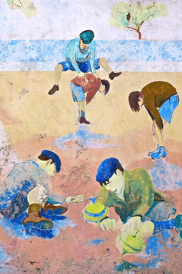 Children's Games #2. Public School Mural, Carcassonne