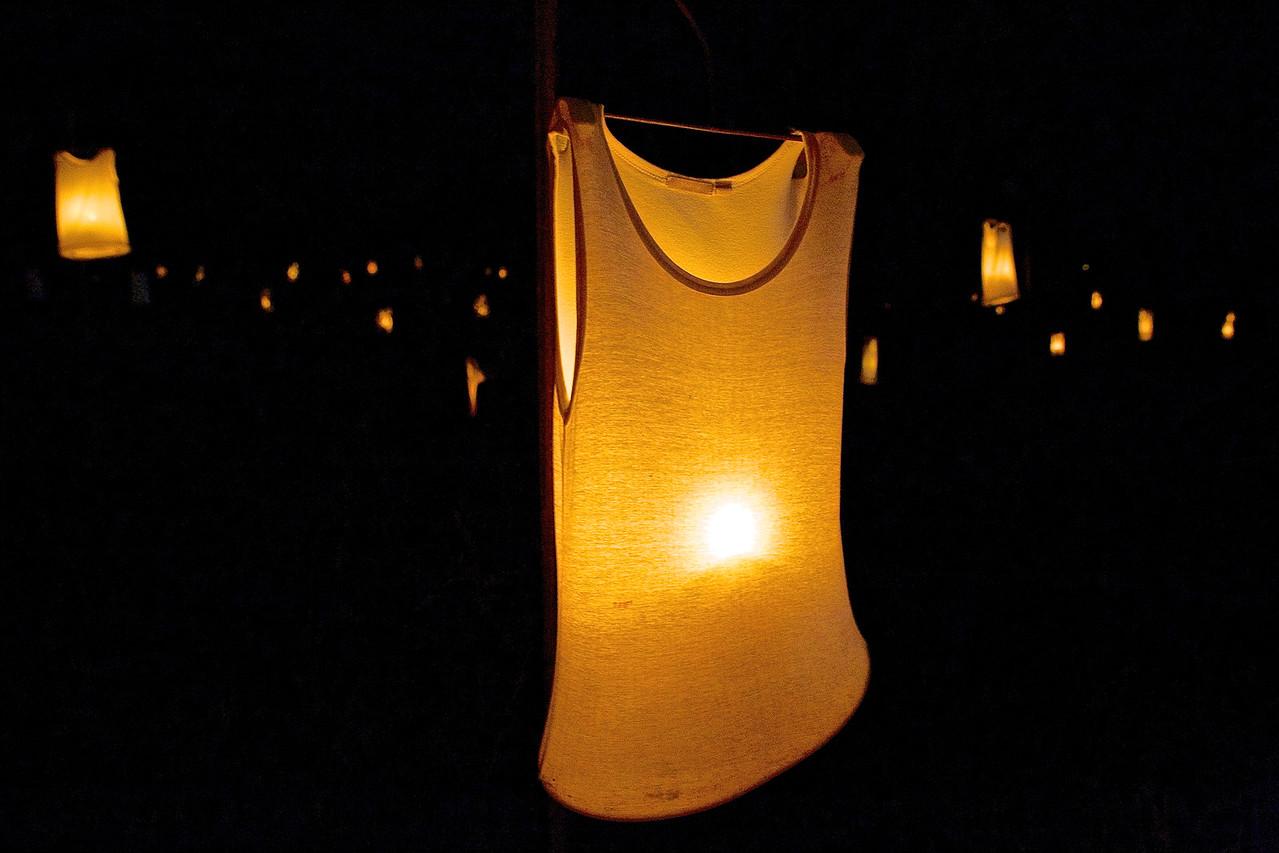 Illuminated Tee Shirt.  ZAT Fire Fair, Montpellier