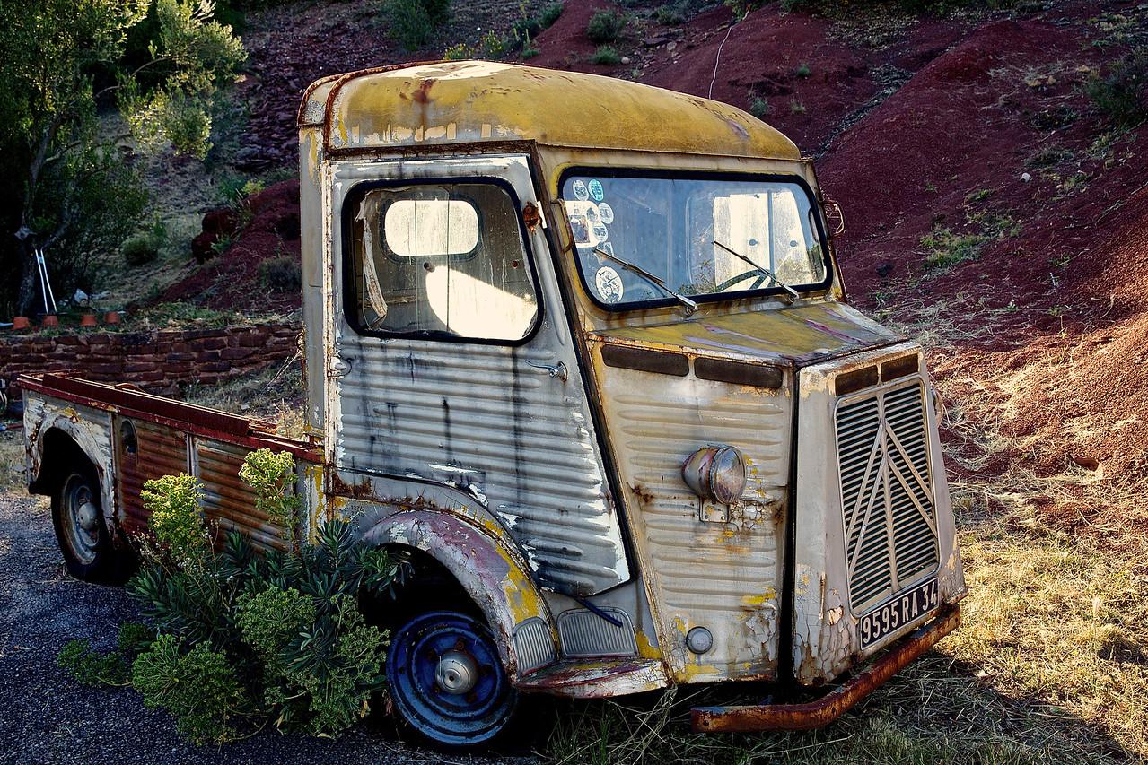 Delivery Truck.  Lac du Salagou.