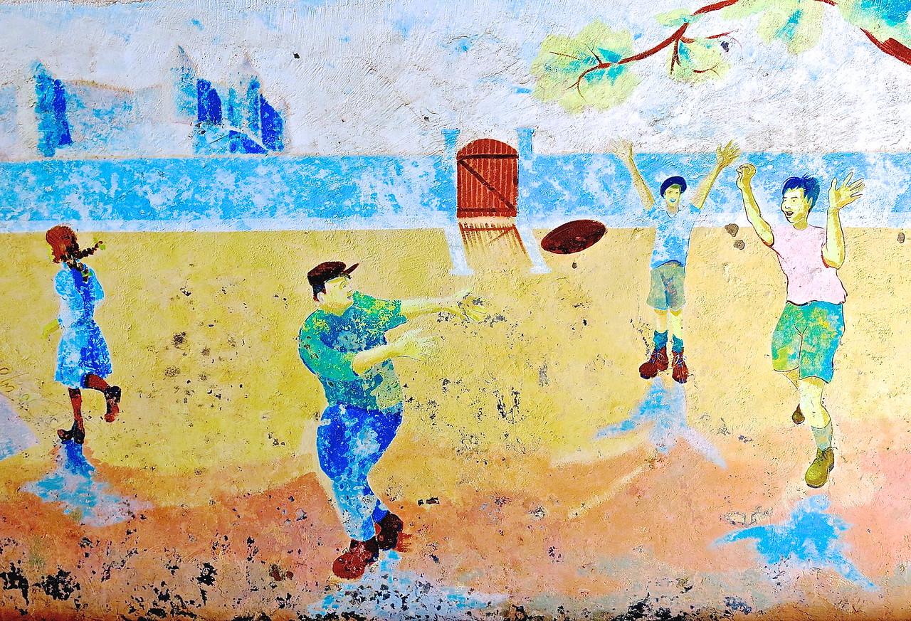 Children's Games #1. Public School Mural, Carcassonne