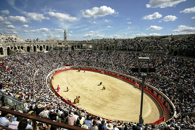 BULLFIGHT,NIMES ARENA,FRANCE