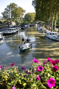 CANAL DU MIDI AT CAPESTANG,LANGUEDOC,FRANCE