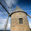 old windmill near Faugeres,Languedoc, southern France
