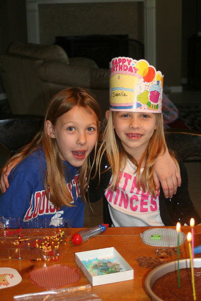 Madison & Isabella- Isa's 6th bday 2-19-09