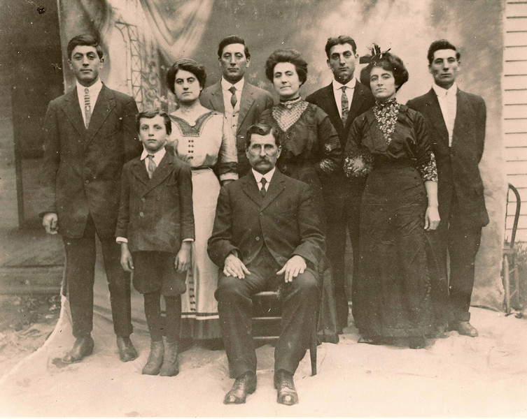 Marquis Family.  Family of Dulcine Lanie, wife of William Lanie.  Dulcine is on the far right.