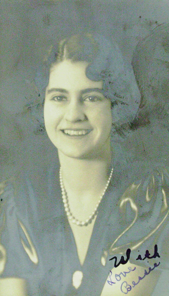 Bessie Burlie Graduation Photo 1933