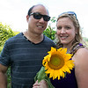 Lanni Orchards in Lunenburg held a Sunflower Festival on Saturday, August 31, 2019. The morning rush of people to see the sunflowers and get one was large so by the middle of the day not many sunflowers were left.  Ken Huang and Jamie Gavin of Dracut where lucky to find this one. SENTINEL & ENTERPRISE/JOHN LOVE