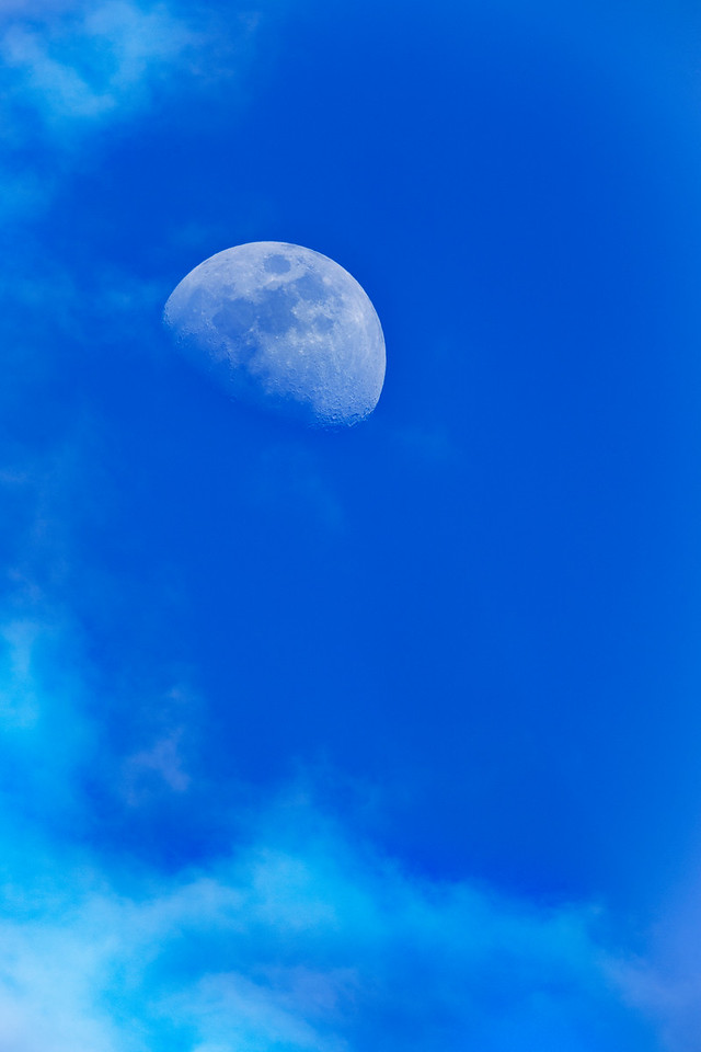 late day moon shot