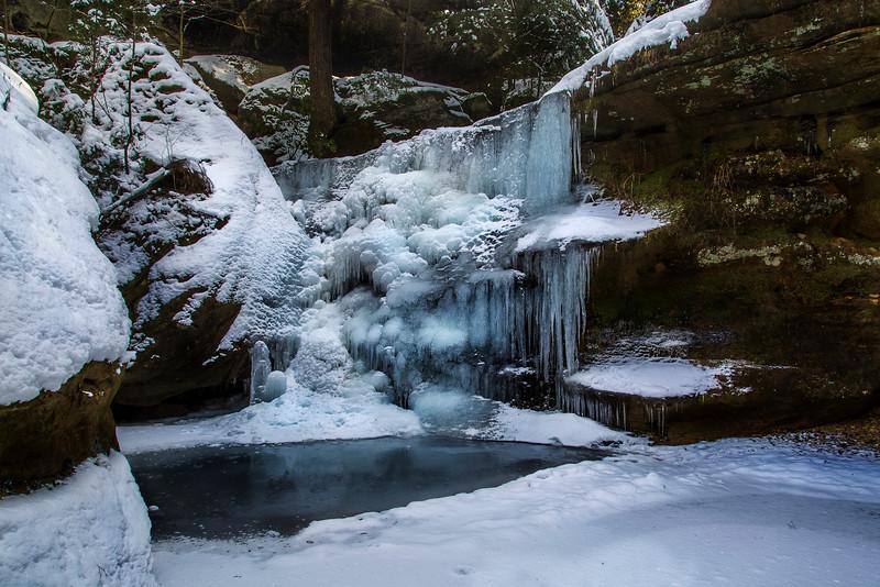 Fozen hidden falls