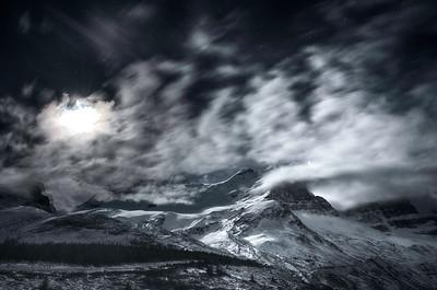 Icefield Parkway moonlit