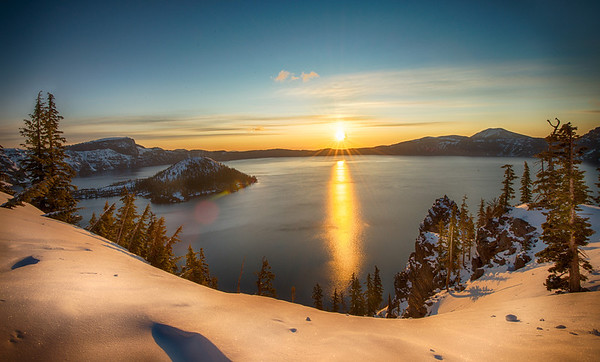 Powder sunrise