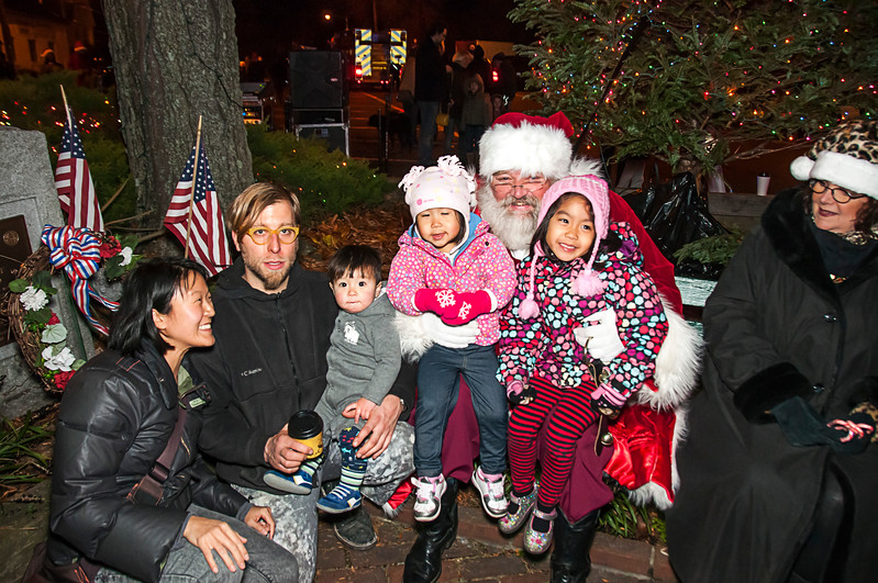 Santa Visits Lansdowne 2012 Holiday Tree Lighting