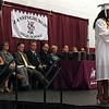 MARK ROBARGE - MROBARGE@TROYRECORD.COM<br /> Valedictorian Rachely Sanchez-Murray gives her address during Lansingburgh High School's 115th Commencement on Friday night.