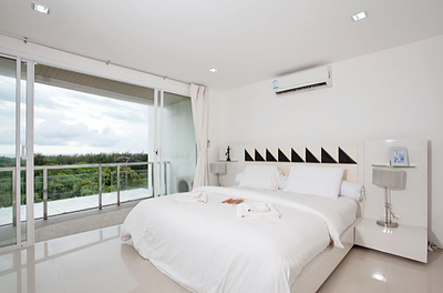 Two bedroom Lanta Loft 3B  Luxury Apartment Bedroom,Long Beach, Ko Lanta