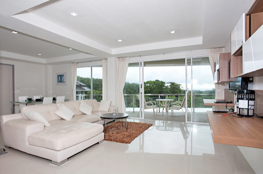 Two bedroom Lanta Loft 3B  Luxury Apartment Lounge area,Long Beach, Ko Lanta