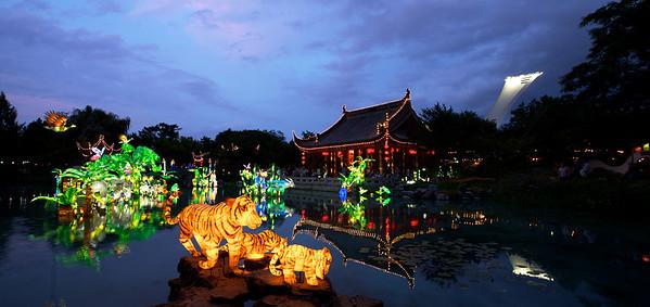 Lanternes chinoises, Jardin botanique de Montreal.