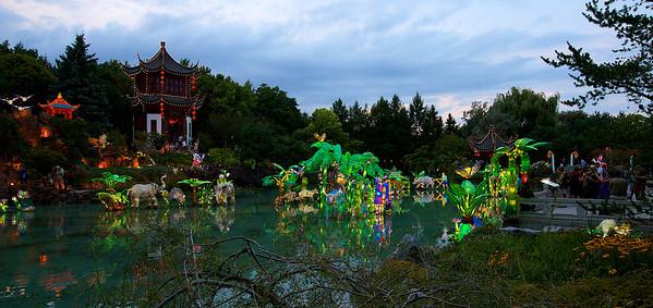 Lanternes chinoises, Jardin botanique de Montreal
