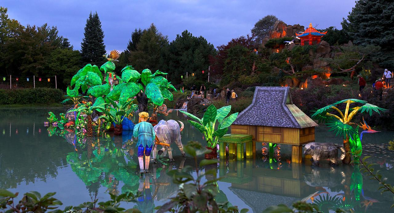 Lanternes chinoises , Jardin Botanique de Montreal