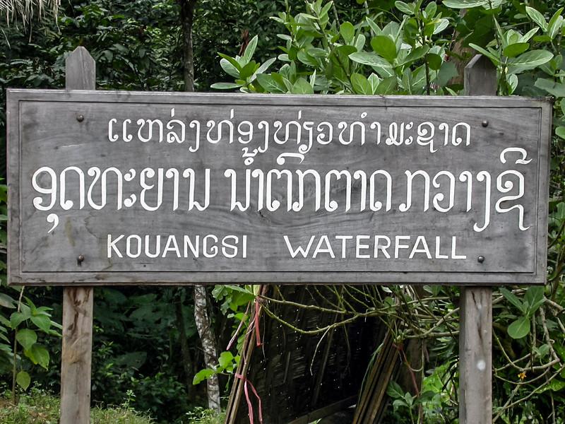 Luang Prabang, Laos 2002 - waterfalls