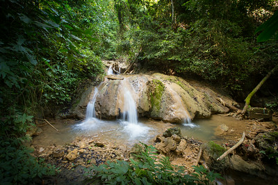 Waterfall in the jungle outside Luang Prabang