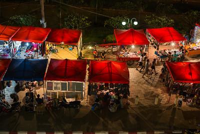 Night markets in Vientiane