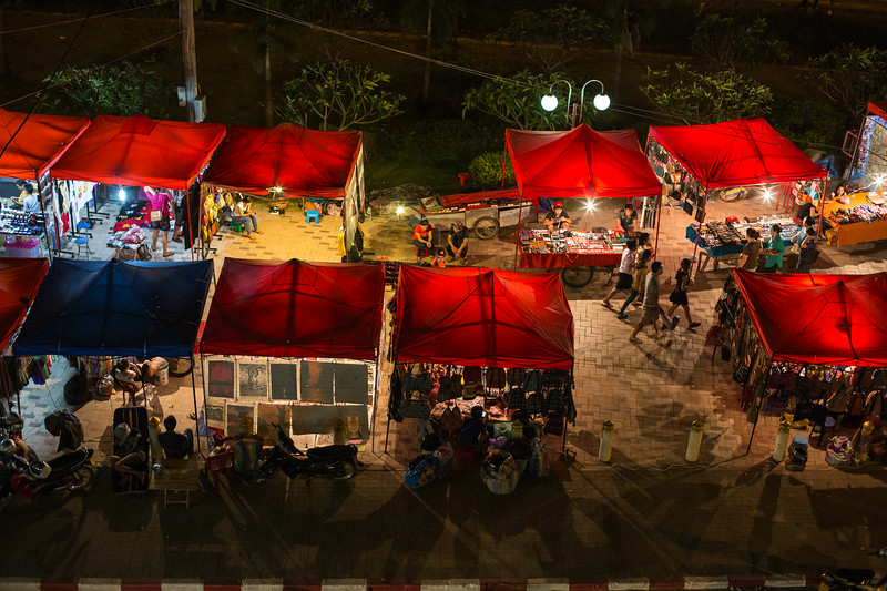 Night markets in Vientiane