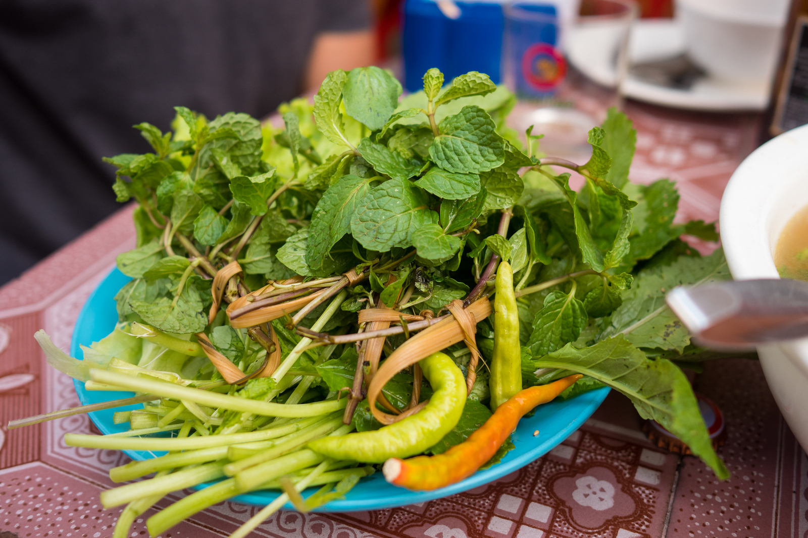 Laos Local Herbs and Hot Chilies