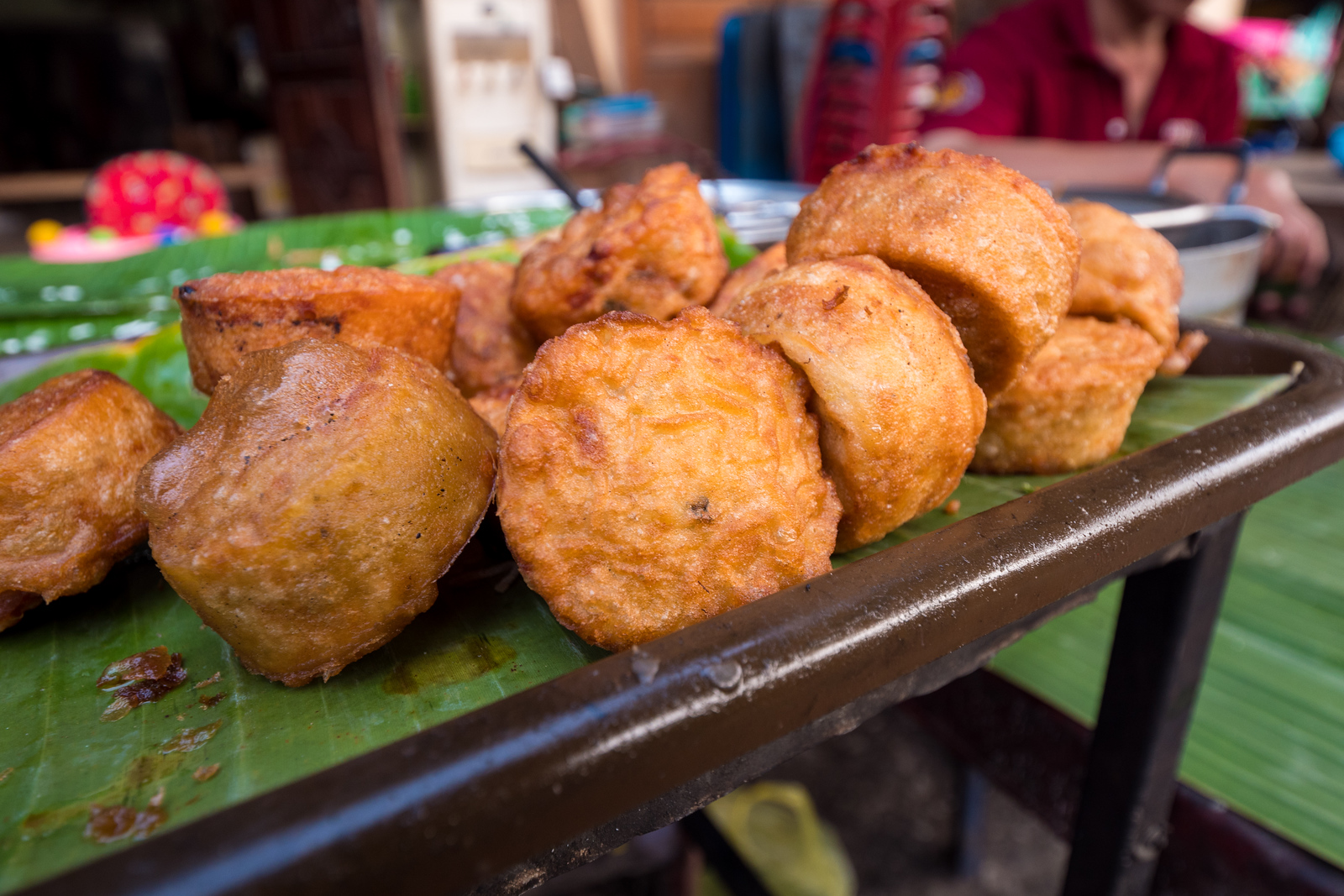Bean Cakes at the Morning Market in Luang Prabang