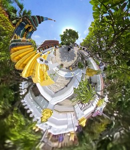 Wat Xiengthong, Luang Parbang, laos, 360 tiny planet