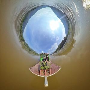 Mekong slowboat between Luang Parbang-Hua Xai, Laos 360 tiny planet
