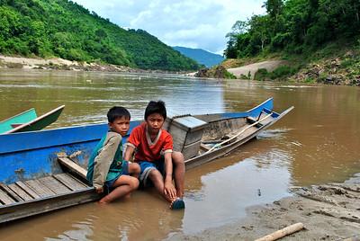 Laos - Mekong River Boat To Luang Prabang