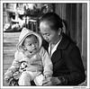 Grandmother, granddaught, Ban Done Chai, Laos  November 2014