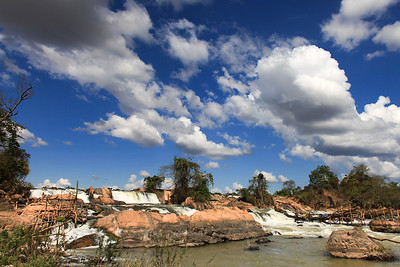 Jeden z wodospadów na Mekongu