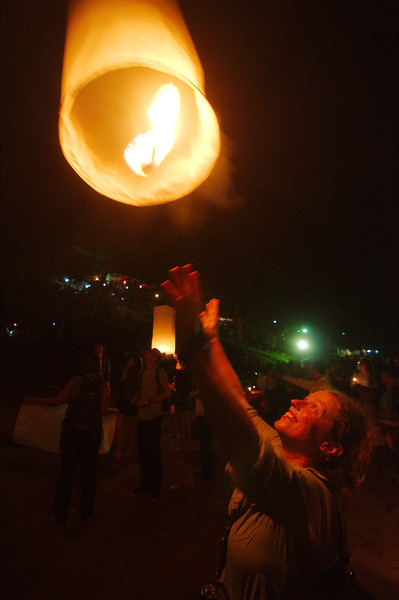 Emilie was very excited to send off a sky lantern