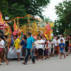 Every Luang Prabang district decorates a huge float for an evening festival procession